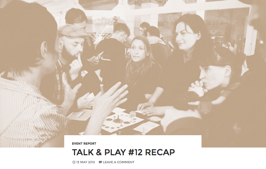 Talk&Play #12 recap