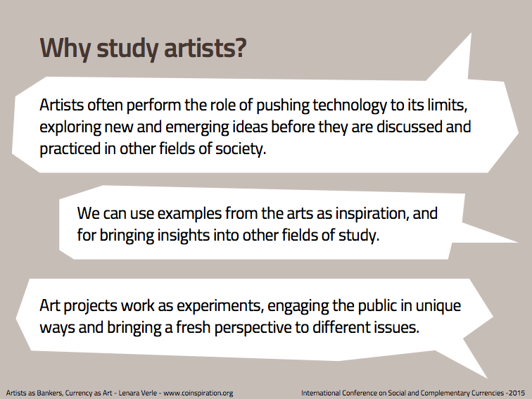 Why study artists?
