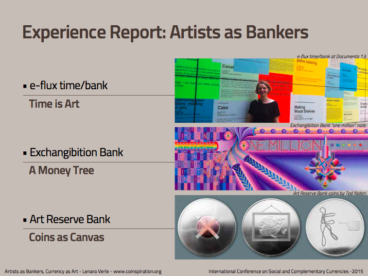 Experience Report: Artists as Bankers