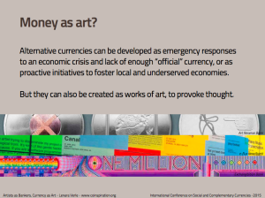 Money as Art?